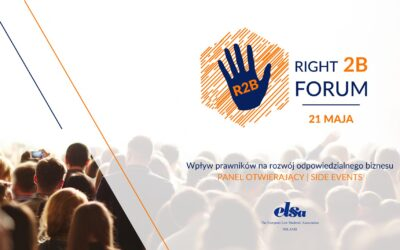 Poraz 3. PIHRB patronem merytorycznym ELSA Right2B Forum