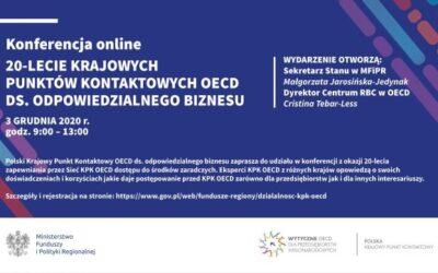 Wiceprezes PIHRB wśród panelistów Konferencji zokazji 20-lecia Sieci KPK OECD