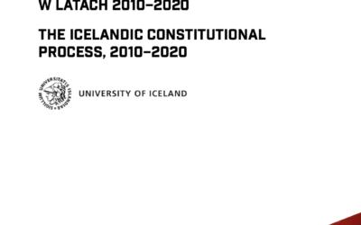 """Nowa publikacja """"Islandzki proces konstytucyjny wlatach 2010-2020"""", PIHRB RS 1/2021"""