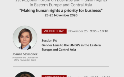 PIHRB na1st Regional Forum on Business and Human Rights in Eastern Europe and Central Asia